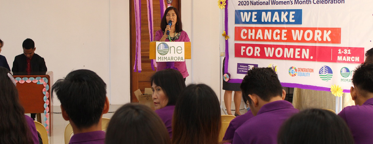"""PENRO-MARINDUQUE CELEBRATES WOMEN'S WEEK WITH A THEME """"WE MAKE CHANGE WORK FOR WOMEN"""""""